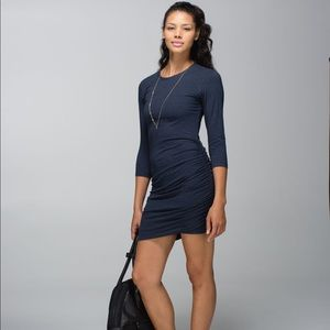 LULULEMON Anytime Dress Heathered Inkwell